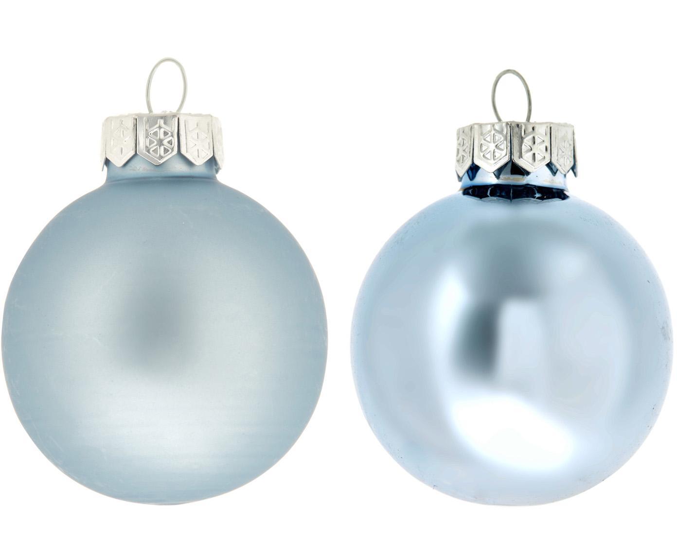 Set 6 palline di Natale Evergreen, Blu ghiaccio, Ø 8 cm