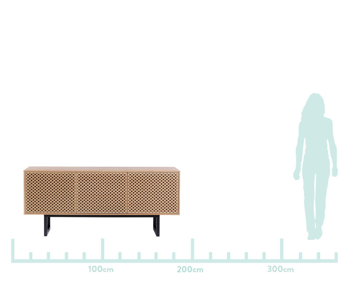 Designová skříňka sdubovou dýhou Camden, Dub