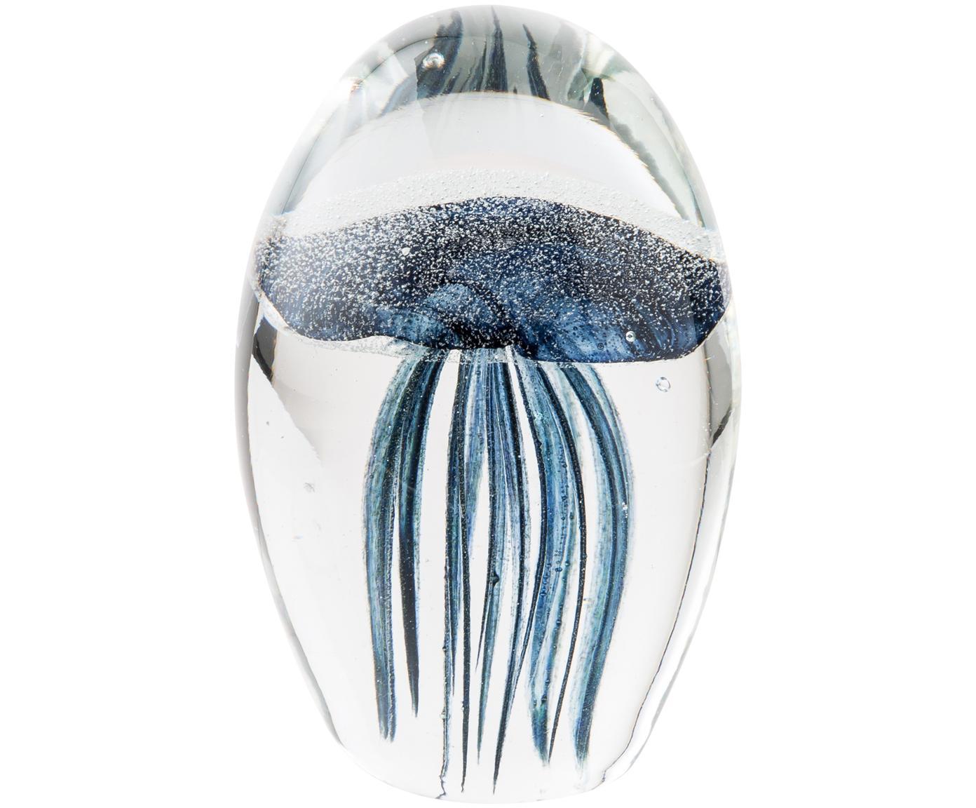 Oggetto decorativo Tinti, Vetro, Blu trasparente, Ø 7 x A 11 cm
