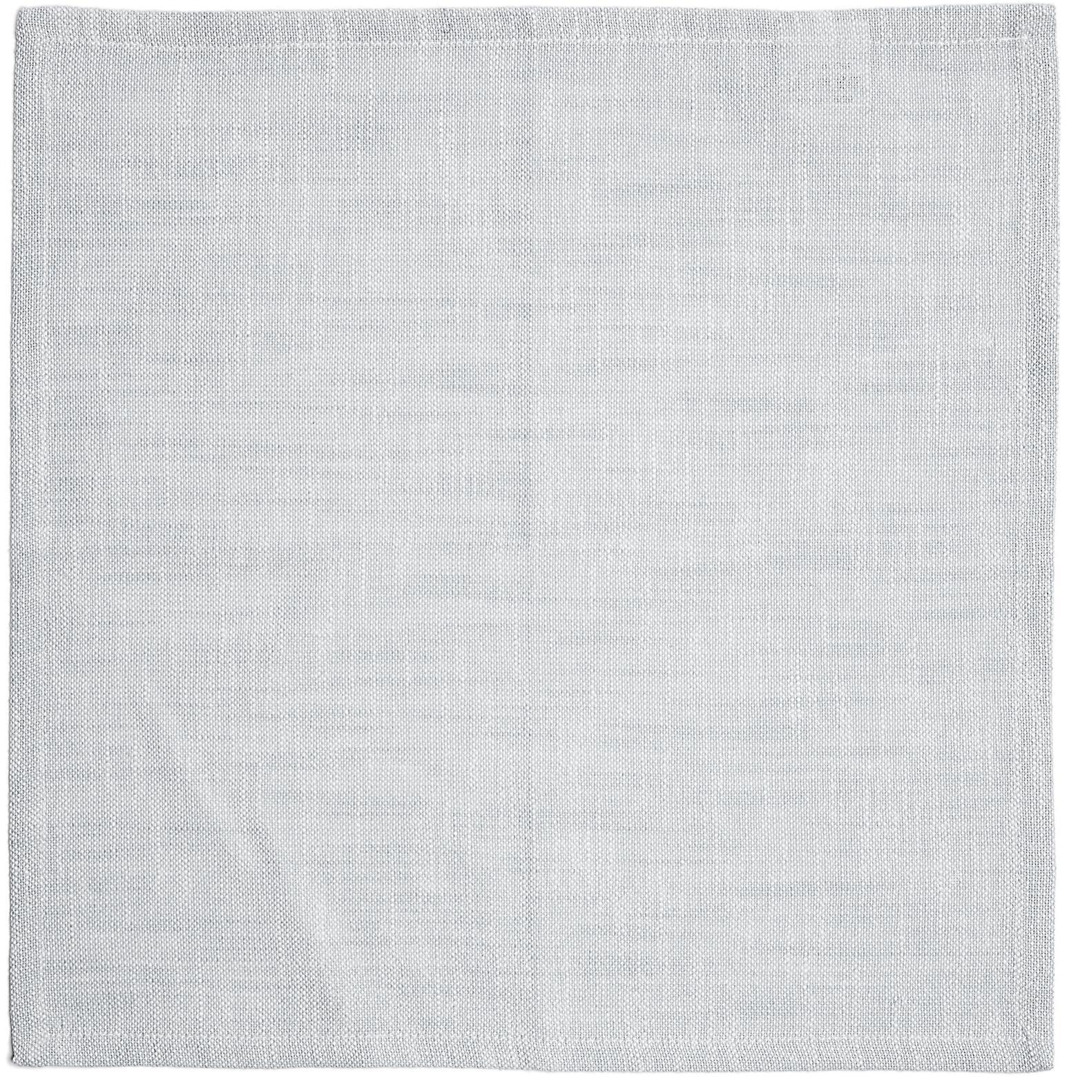 Baumwoll-Servietten Tonnika, 4 Stück, Baumwolle, Blaugrau, 45 x 45 cm