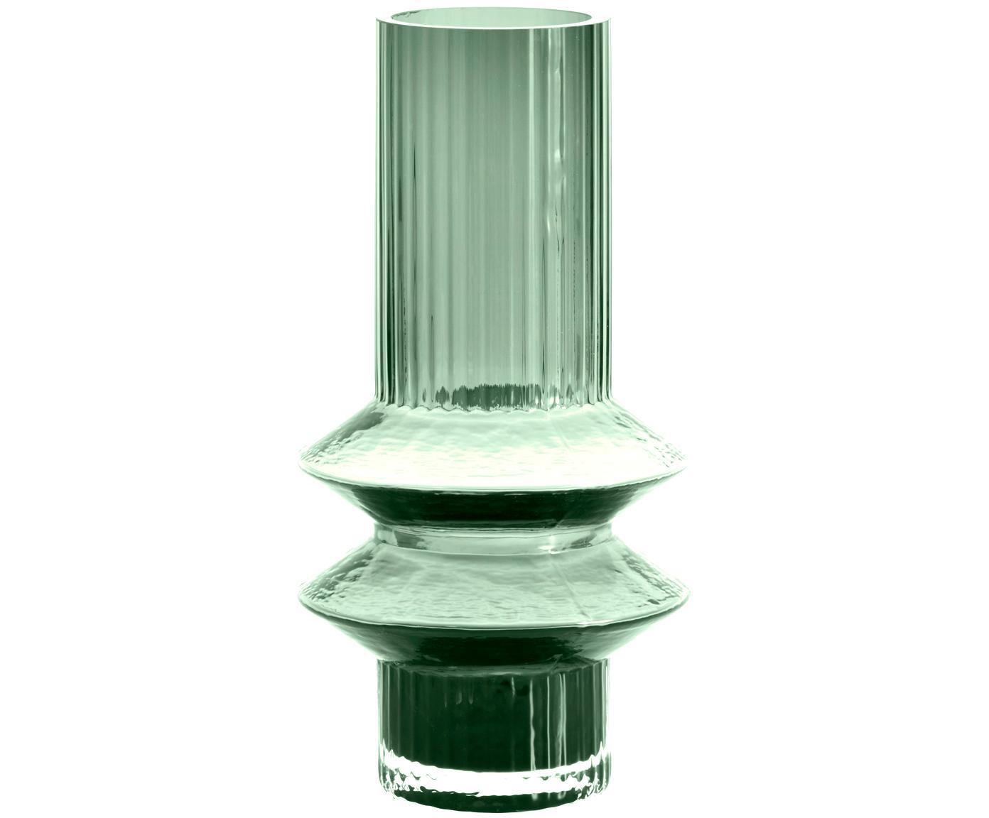 Glas-Vase Rilla, Glas, Grün, Ø 10 x H 21 cm