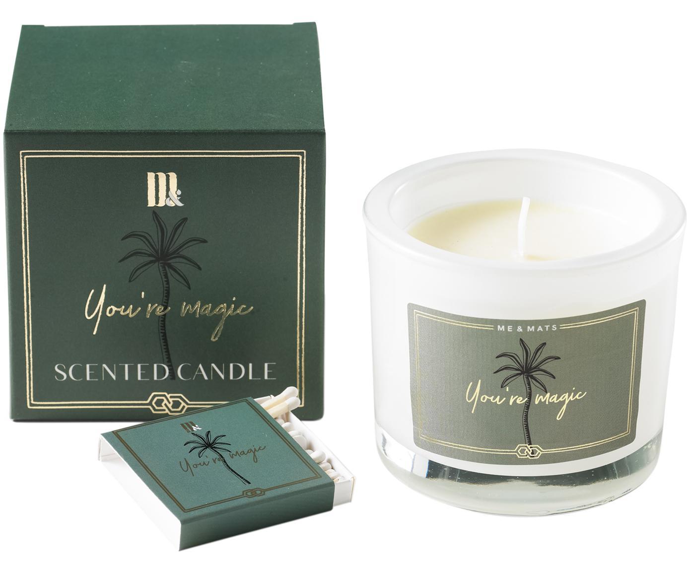 Świeca zapachowa You're Magic (grejpfrut, paczula i arbuz), Zielony, biały, Ø 9 x W 8 cm