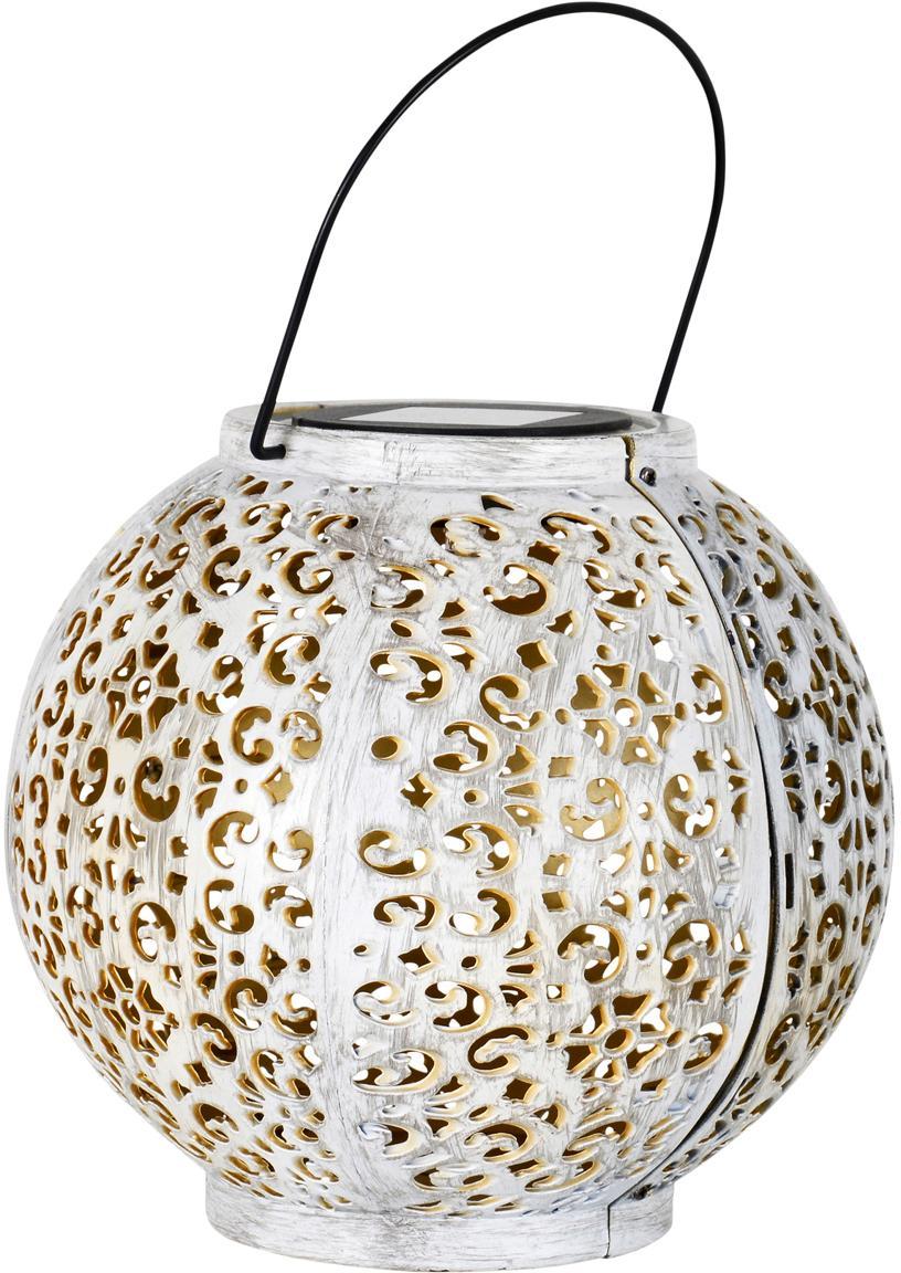 LED solar lampen Dekomania, 2 stuks, Kunststof, Wit, goudkleurig, Ø 20 x H 27 cm