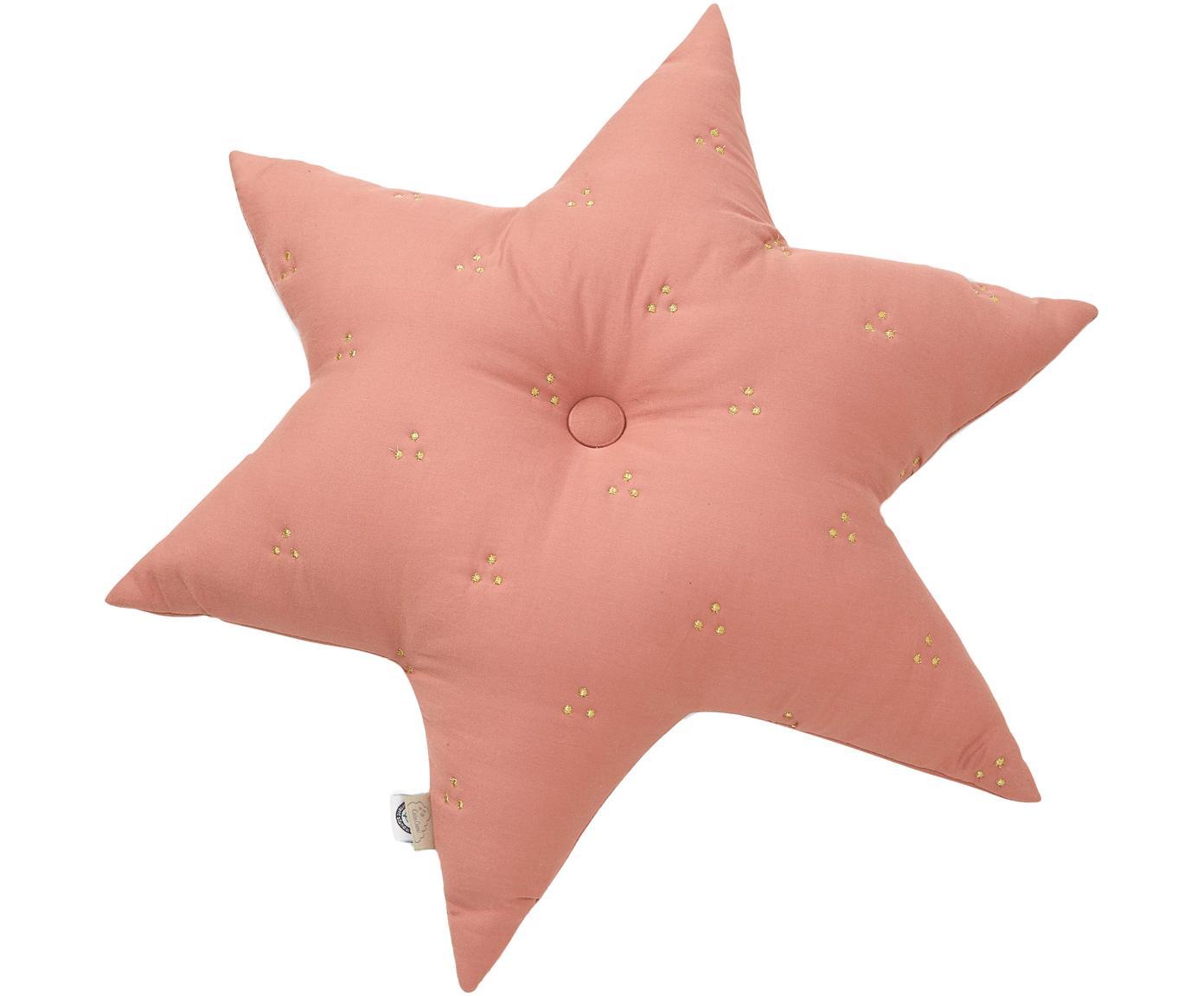 Kissen Golden Stars aus Bio-Baumwolle, mit Inlett, Bezug: Bio-Baumwolle, Öko-Tex- u, Altrosa, 45 x 45 cm