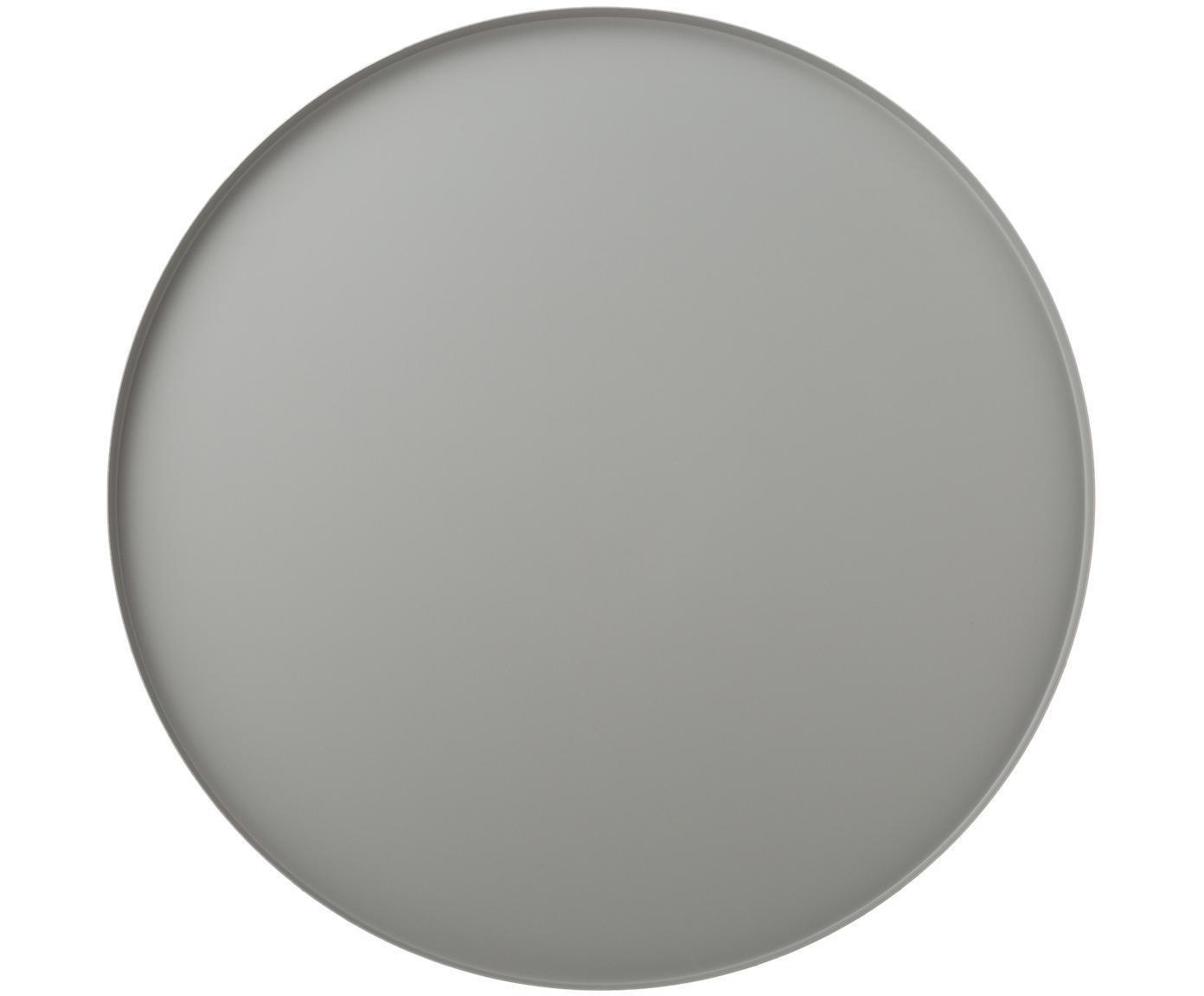 Vassoio decorativo rotondo Cerchio in grigio, Accaio inossidabile, verniciato a polvere, Grigio, Ø 40 x Alt. 2 cm