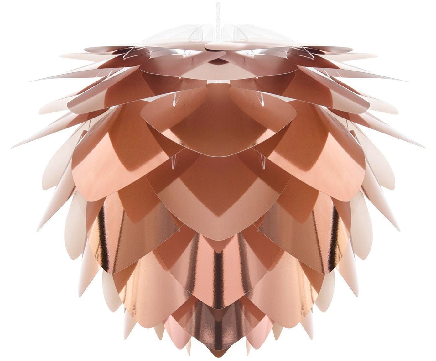 Pendelleuchte Silvia, Bausatz, Lampenschirm: Polypropylen, Kupferfarben, Weiss, Ø 32 x H 25 cm