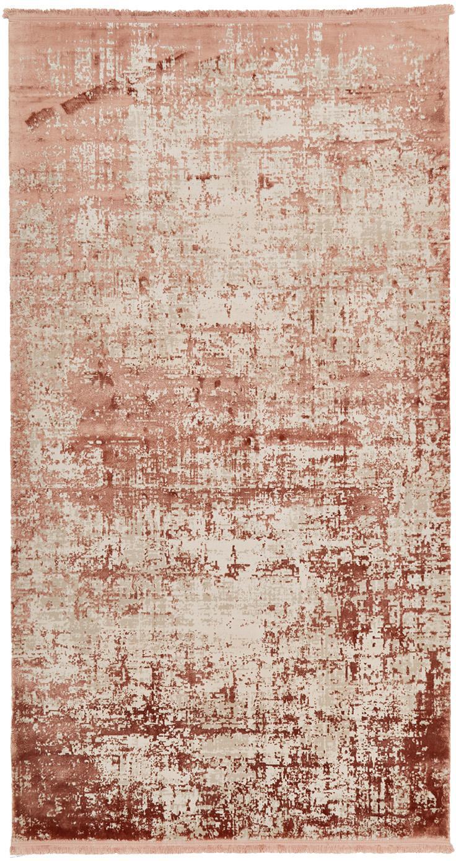 Dywan vintage z frędzlami Cordoba, Terakota, beżowy, S 80 x D 150 cm (Rozmiar XS)