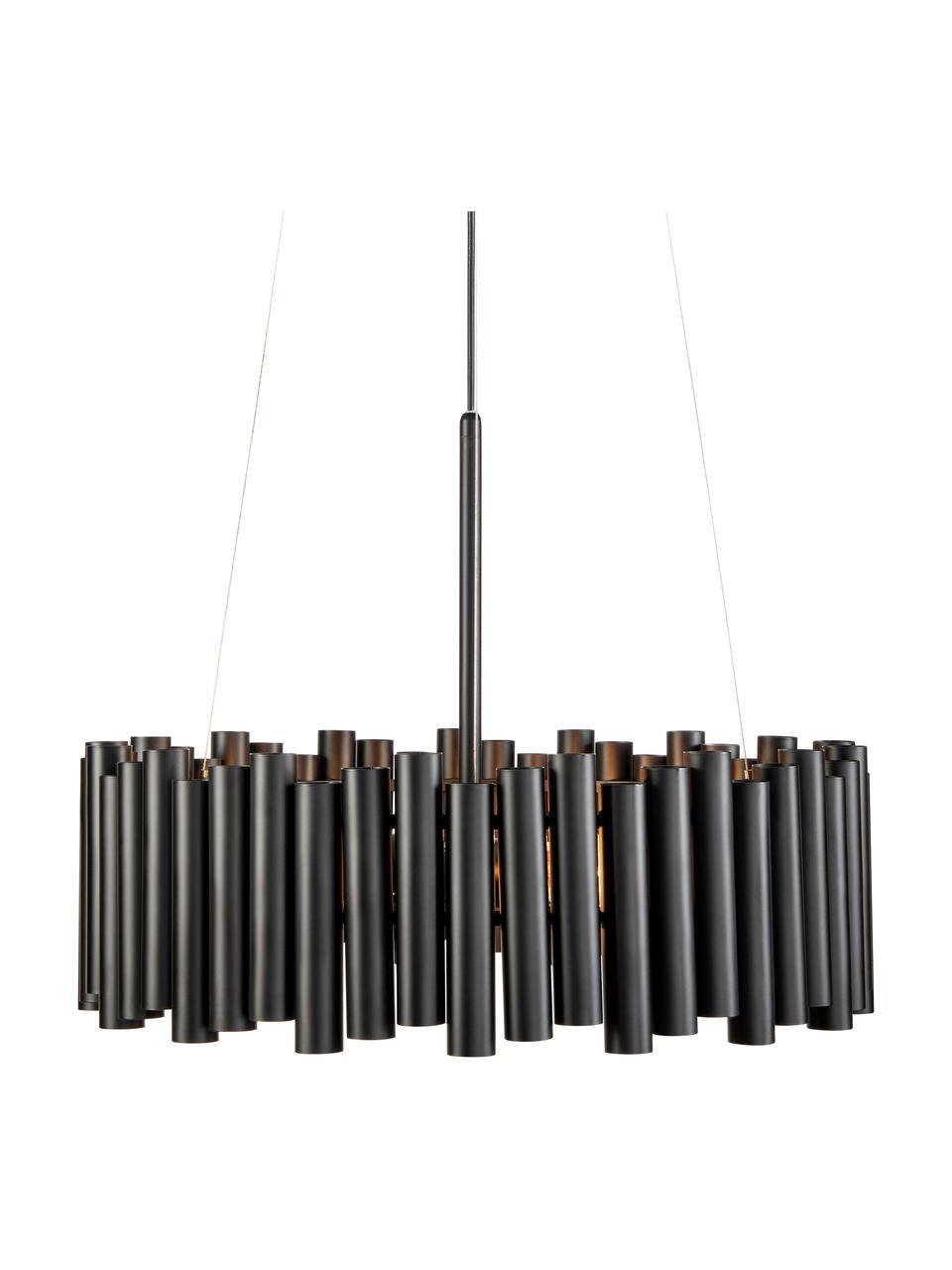 Moderne Pendelleuchte Level, Lampenschirm: Metall, beschichtet, Baldachin: Metall, beschichtet, Schwarz, Ø 53 x H 20 cm
