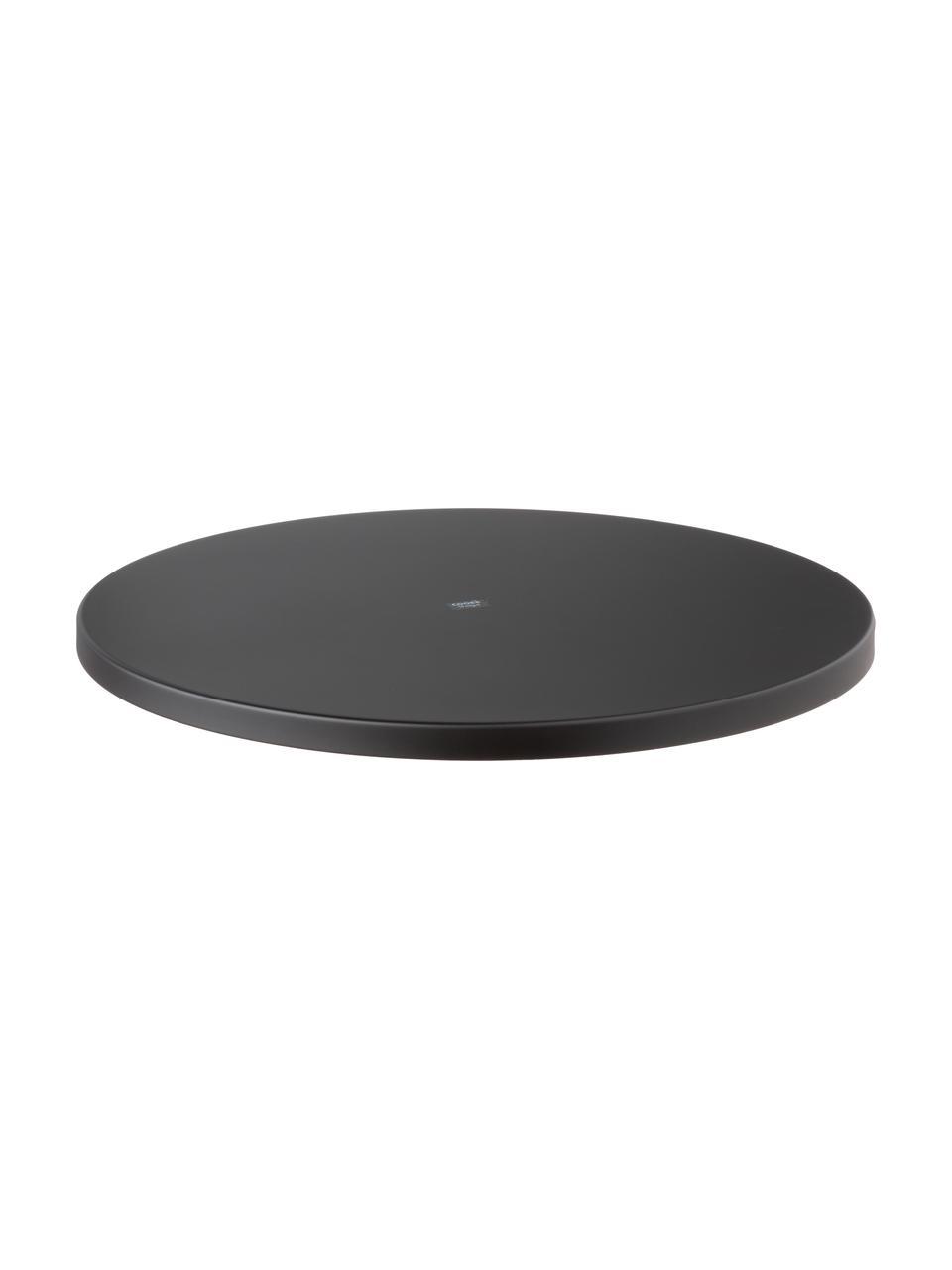 Plateau décoratif rond noir Circle, Noir, mat