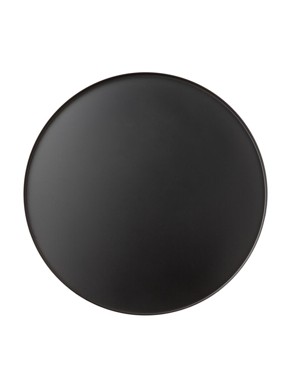 Okrągła taca dekoracyjna Circle, Stal szlachetna , malowana proszkowo, Czarny, matowy, Ø 40 x W 2 cm