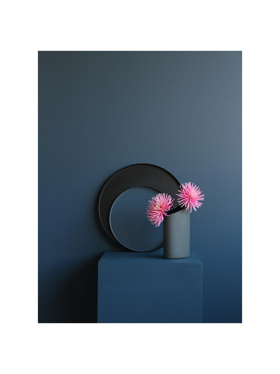 Vassoio decorativo rotondo Cerchio, Acciaio inossidabile, verniciato a polvere, Nero opaco, Ø 40 x Alt. 2 cm