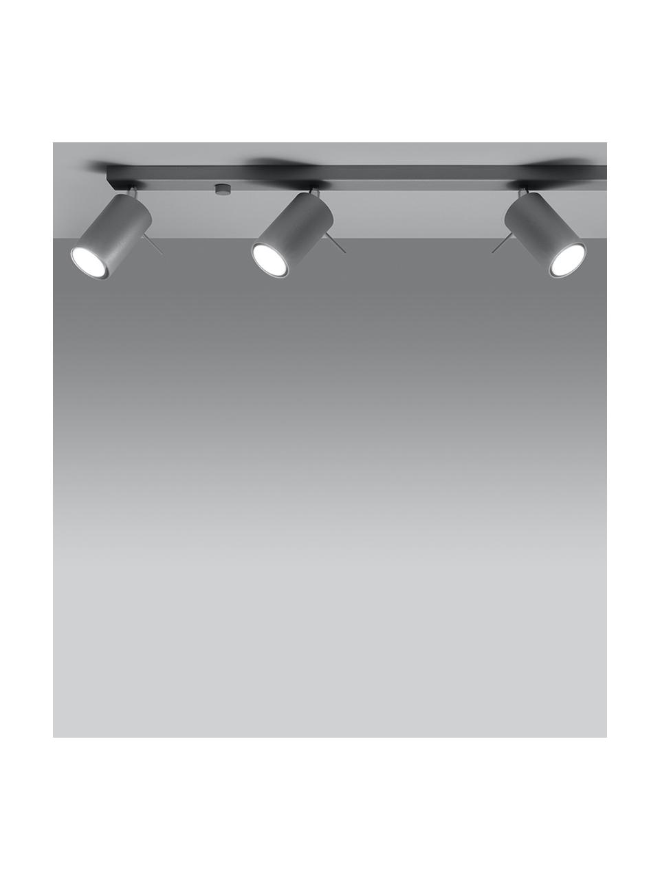 Lampa sufitowa Etna, Szary, S 80 x W 15 cm