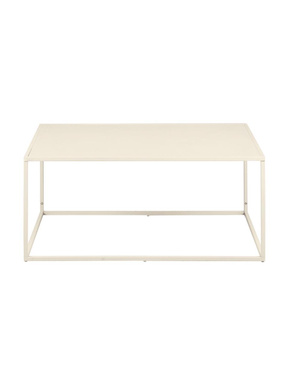 Tavolino da salotto in metallo beige Newton, Metallo verniciato a polvere, Beige, Larg. 90 x Alt. 40 cm