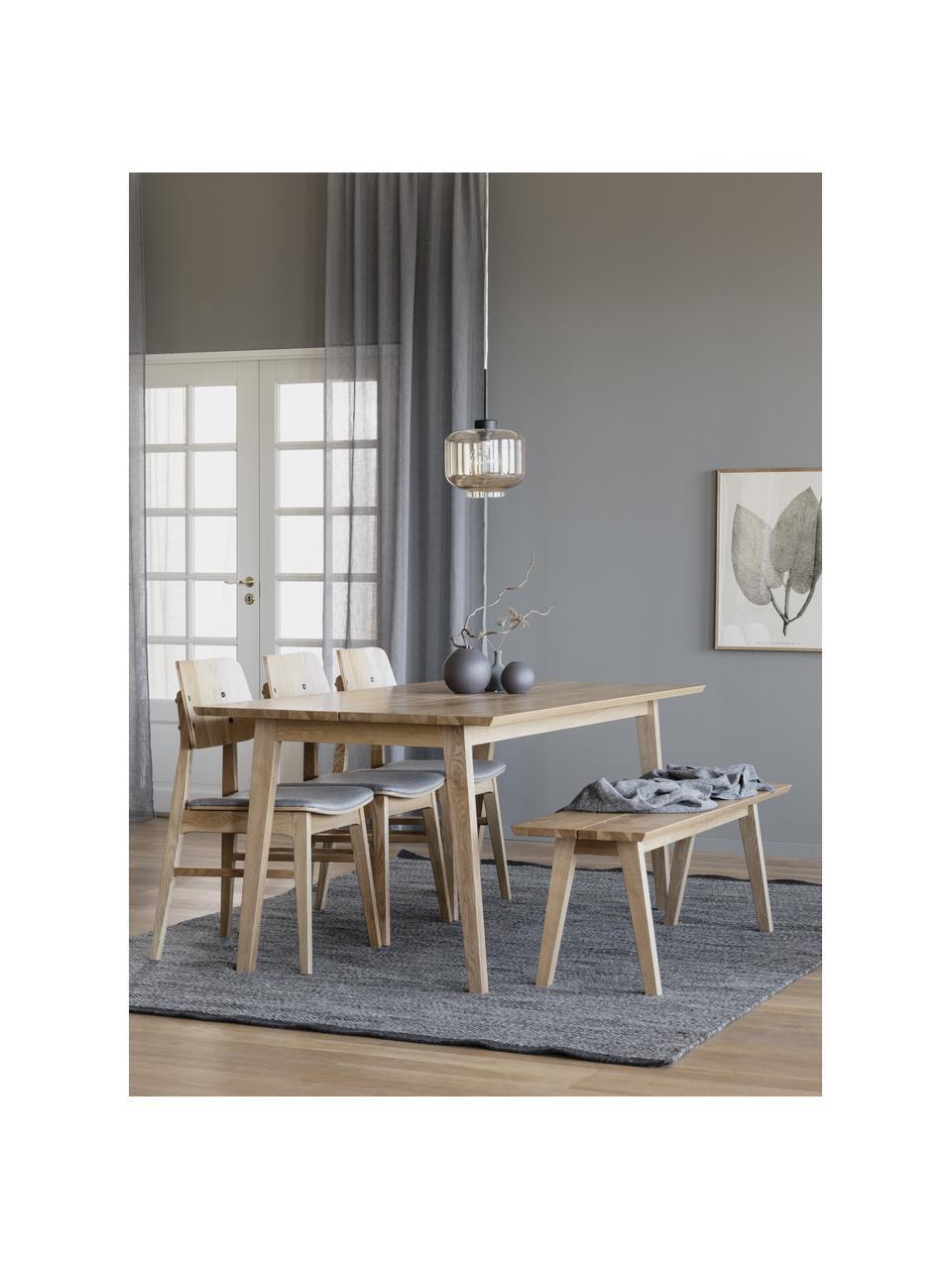 Esstisch Melfort in Hellbraun, Tischplatte: Mitteldichte Holzfaserpla, Beine: Birkenholz, massiv mit Ei, Hellbraun, B 180 x T 90 cm