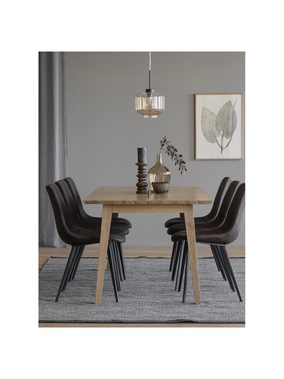 Esstisch Melfort, 180 x 90 cm, Tischplatte: Mitteldichte Holzfaserpla, Beine: Birkenholz, massiv mit Ei, Wildeichenholzfurnier, B 180 x T 90 cm