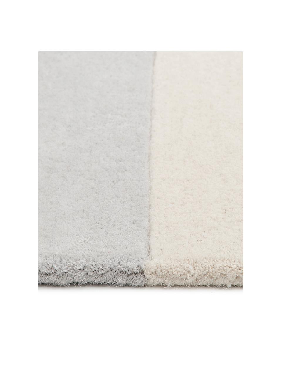 Tappeto in lana taftato a mano con motivo grafico Keith, Retro: 100% cotone Nel caso dei , Beige, grigio, Larg.160 x Lung. 230 cm  (taglia M)