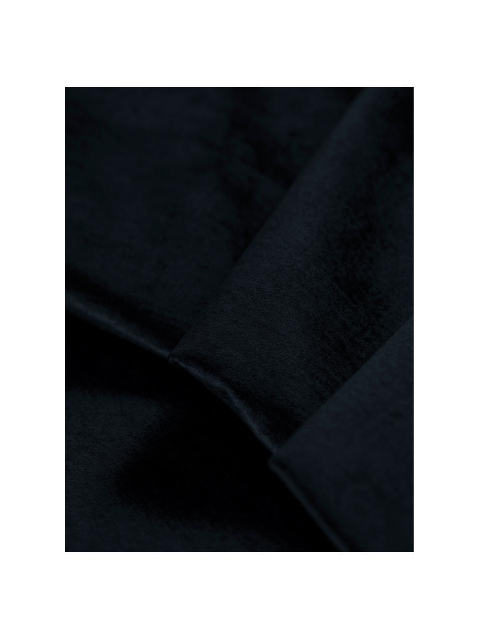 Divano letto 3 posti in velluto blu scuro Byron, Blu scuro, Larg. 250 x Prof. 105 cm