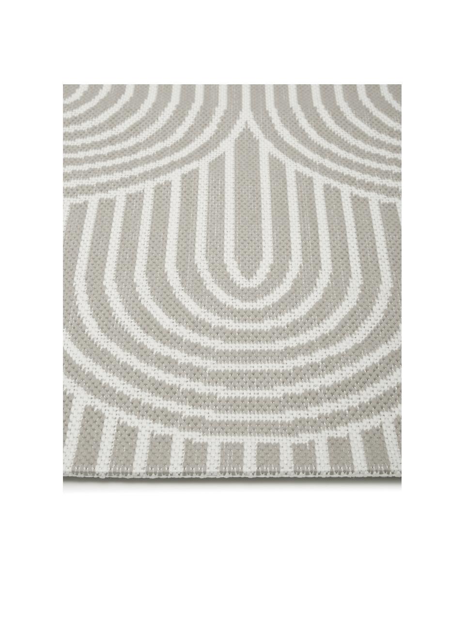 Passatoia da interno-esterno grigio/bianco crema Arches, 86% polipropilene, 14% poliestere, Grigio, bianco, Larg. 80 x Lung. 250 cm