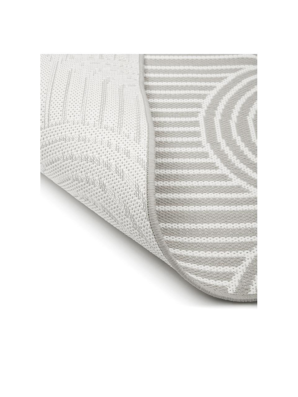 Passatoia color grigio/bianco crema da interno-esterno Arches, 86% polipropilene, 14% poliestere, Grigio, bianco, Larg. 80 x Lung. 250 cm