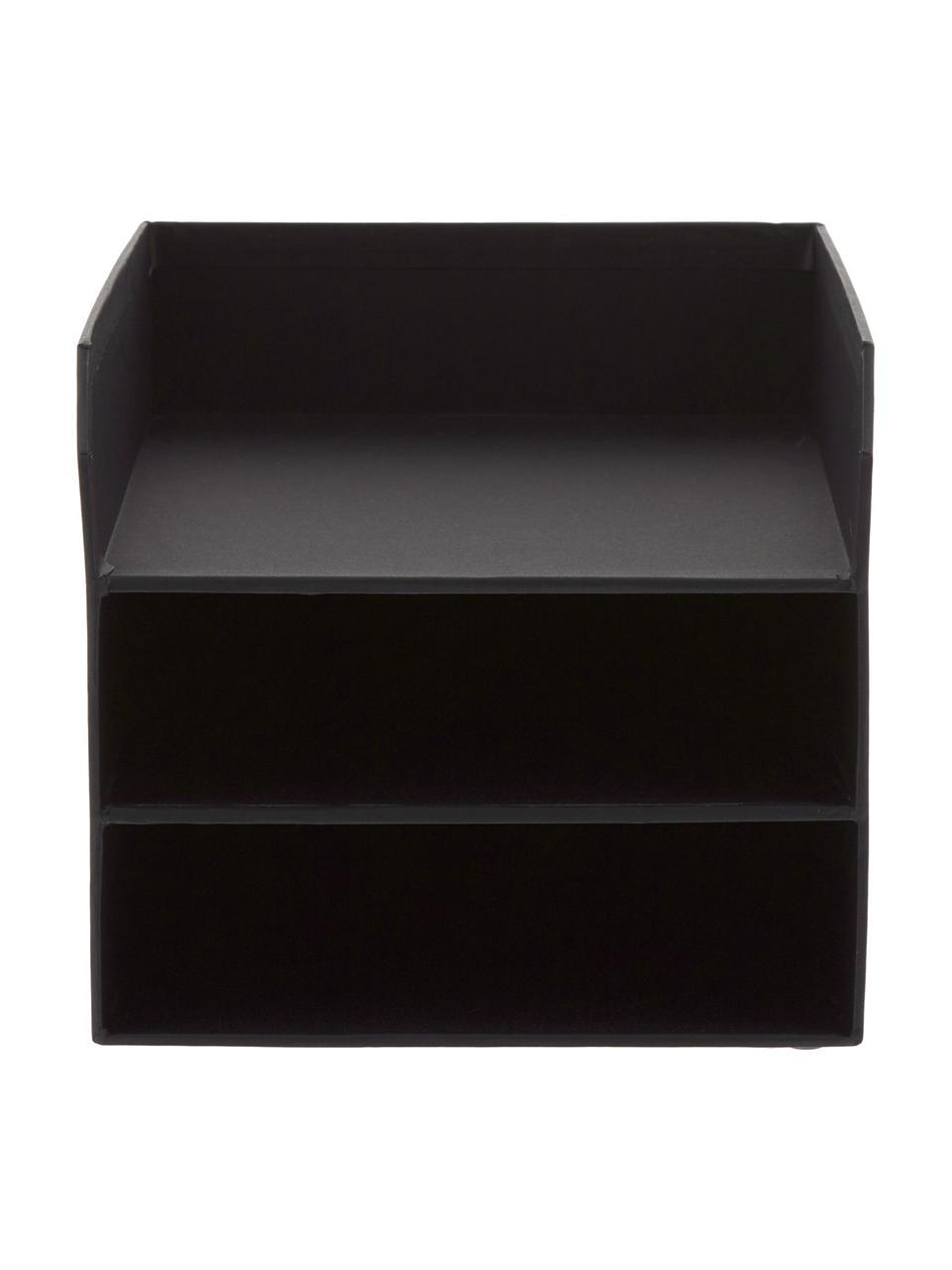 Dokumenten-Ablage Trey, Fester, laminierter Karton, Schwarz, 23 x 21 cm