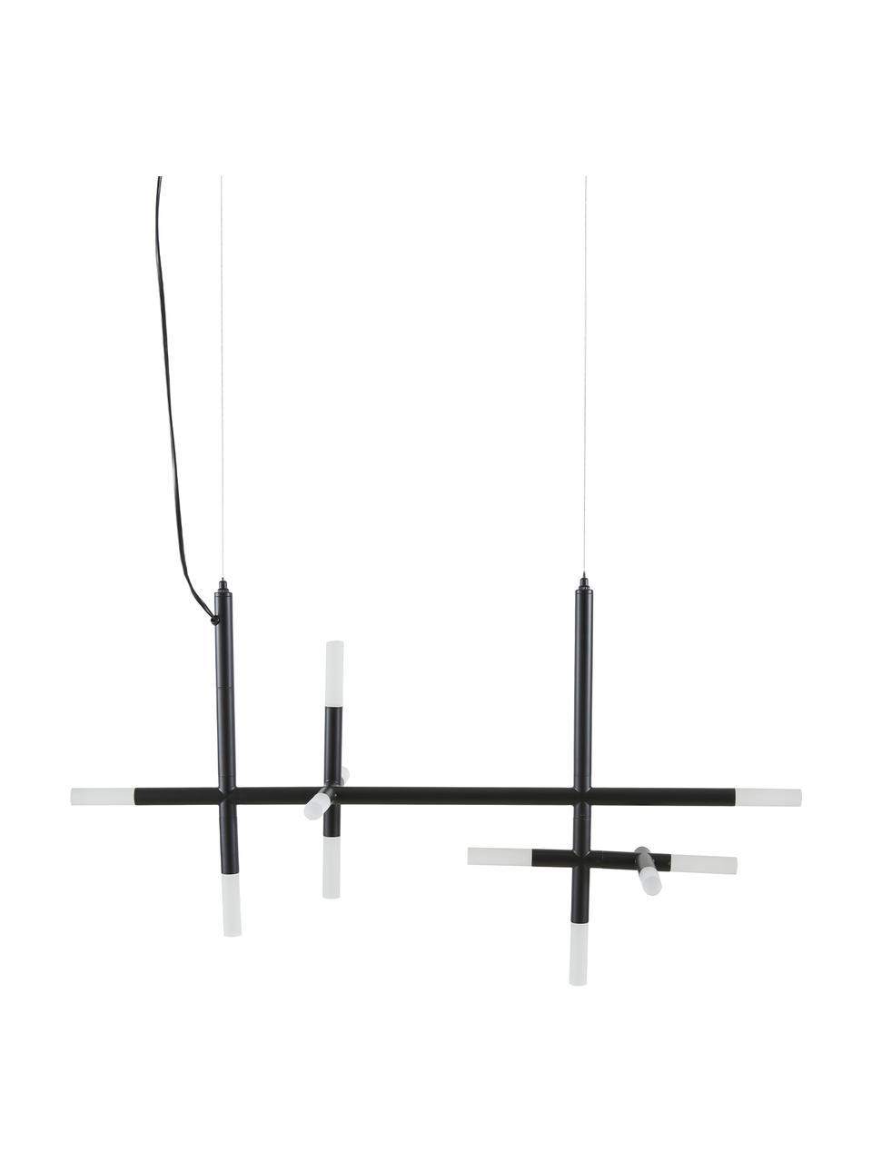 Grande suspension LED noire Gratia, Noir