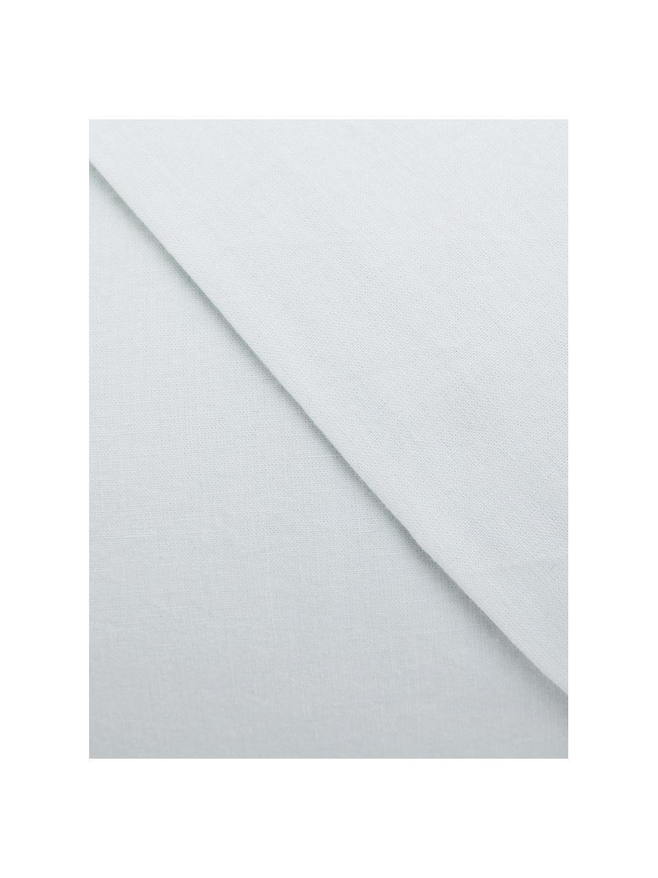 Parure copripiumino in cotone effetto stone washed Velle, Tessuto: cotone ranforce, Fronte e retro: bianco perla, 155 x 200 cm + 1 federa 50 x 80 cm