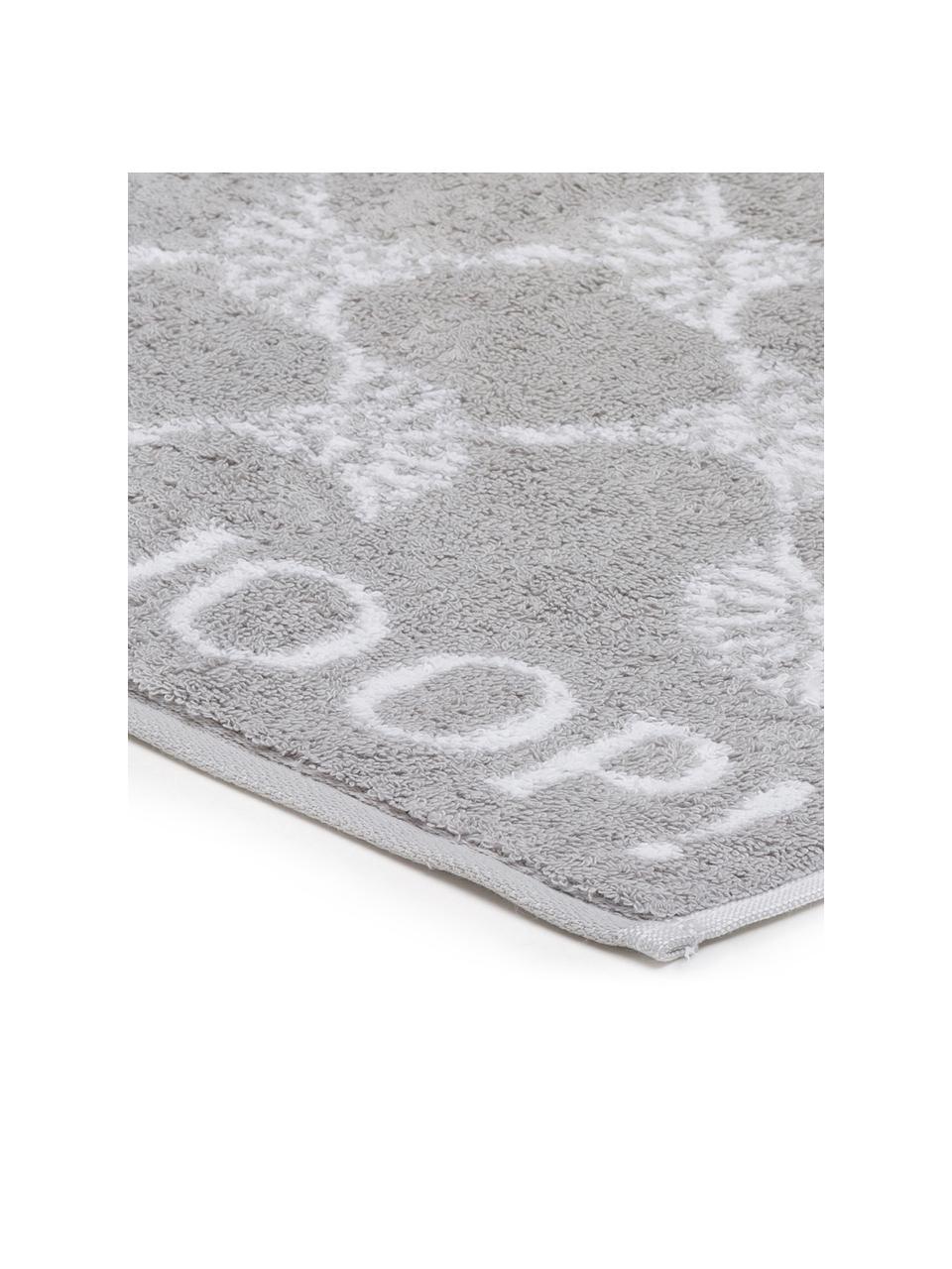 Ręcznik Classic Cornflower, różne rozmiary, Srebrnoszary, biały, Ręcznik do rąk