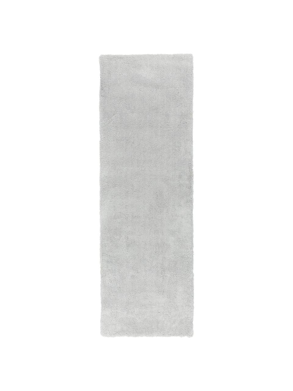 Puszysty chodnik z wysokim stosem Leighton, Jasny szary, S 80 x D 250 cm
