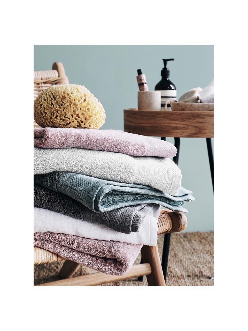 Handdoek Premium in verschillende formaten, met klassiek sierborduursel, Lichtgrijs, Handtuch