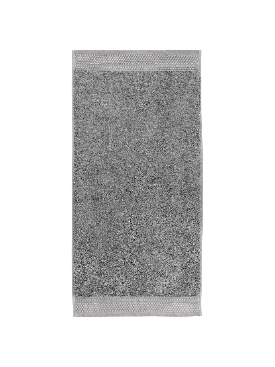 Handtuch-Set Premium mit klassischer Zierbordüre, 3-tlg., Dunkelgrau, Set mit verschiedenen Größen