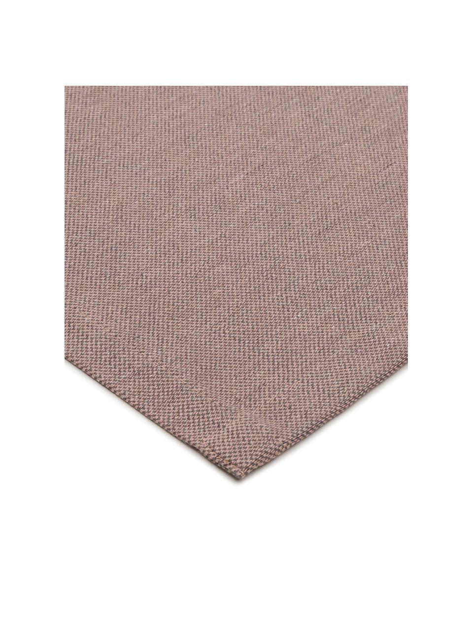 Runner in misto cotone color malva Riva, 55% cotone, 45% poliestere, Viola, Larg. 40 x Lung. 150 cm