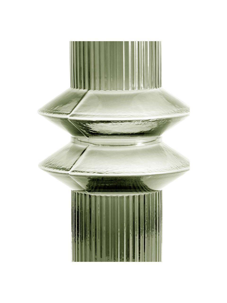 Duży wazon ze szkła Rilla, Szkło, Zielony, Ø 9 x W 32 cm