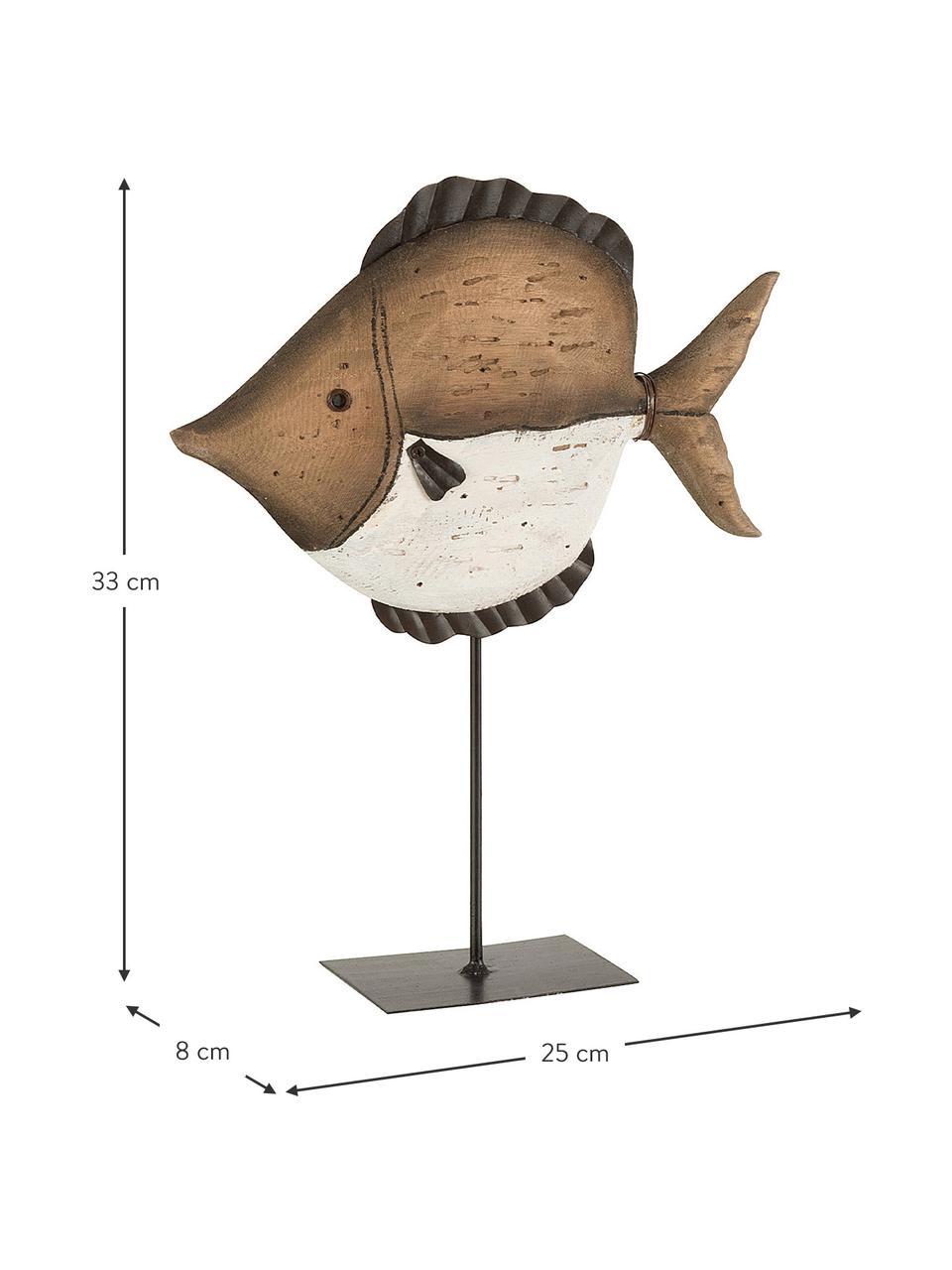 Dekoracja Fish, Drewno naturalne, Brązowy, beżowy, czarny, S 25 cm x W 33 cm