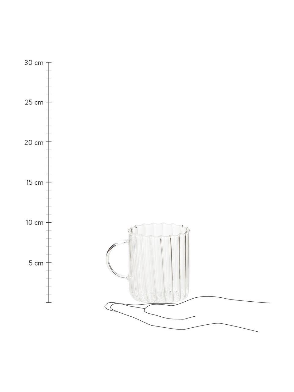 Tasse à thé verre borosilicate Boro, 2pièces, Transparent