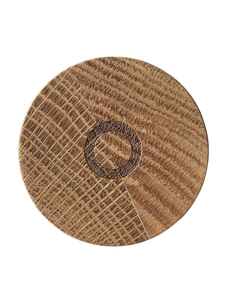 Steingut Salz- und Pfeffermühle Bizz mit Holzdeckel, 2er-Set, Deckel: Eichenholz, Mahlwerk: Keramik, Grüntöne, Beige, Holz, Ø 5 x H 17 cm