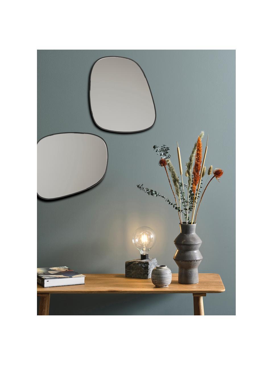 Moderner Wandspiegel Tony mit Metallrahmen, Rahmen: Metall, beschichtet, Spiegelfläche: Spiegelglas, Schwarz, 43 x 50 cm