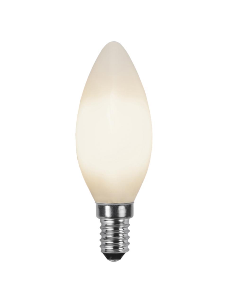 Lampadina E14, 2W, bianco caldo 2 pz, Lampadina: vetro, Bianco, Ø 4 x Alt. 10 cm