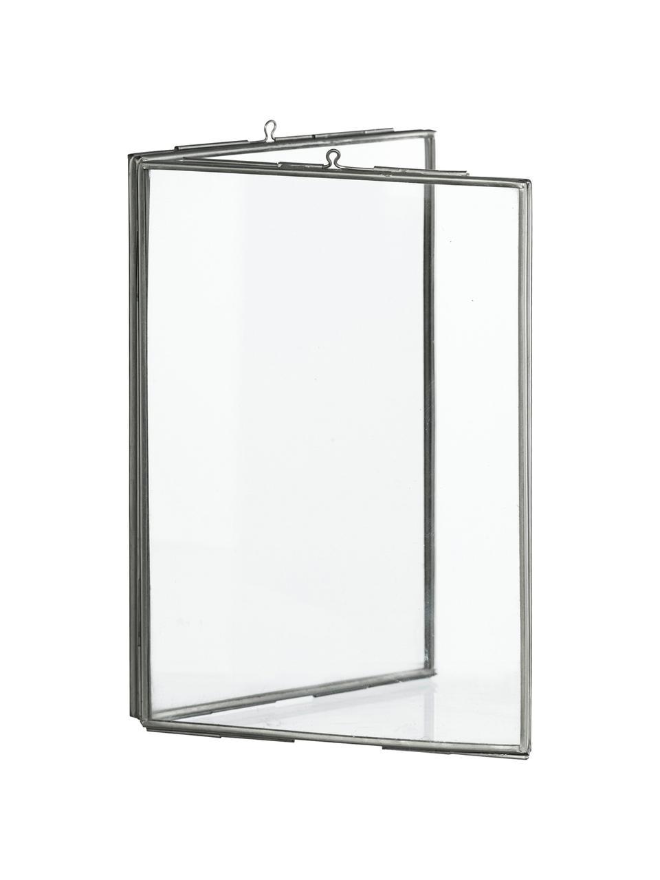 Bilderrahmen Double, Glas, Metall, beschichtet, Edelstahl, 10 x 15