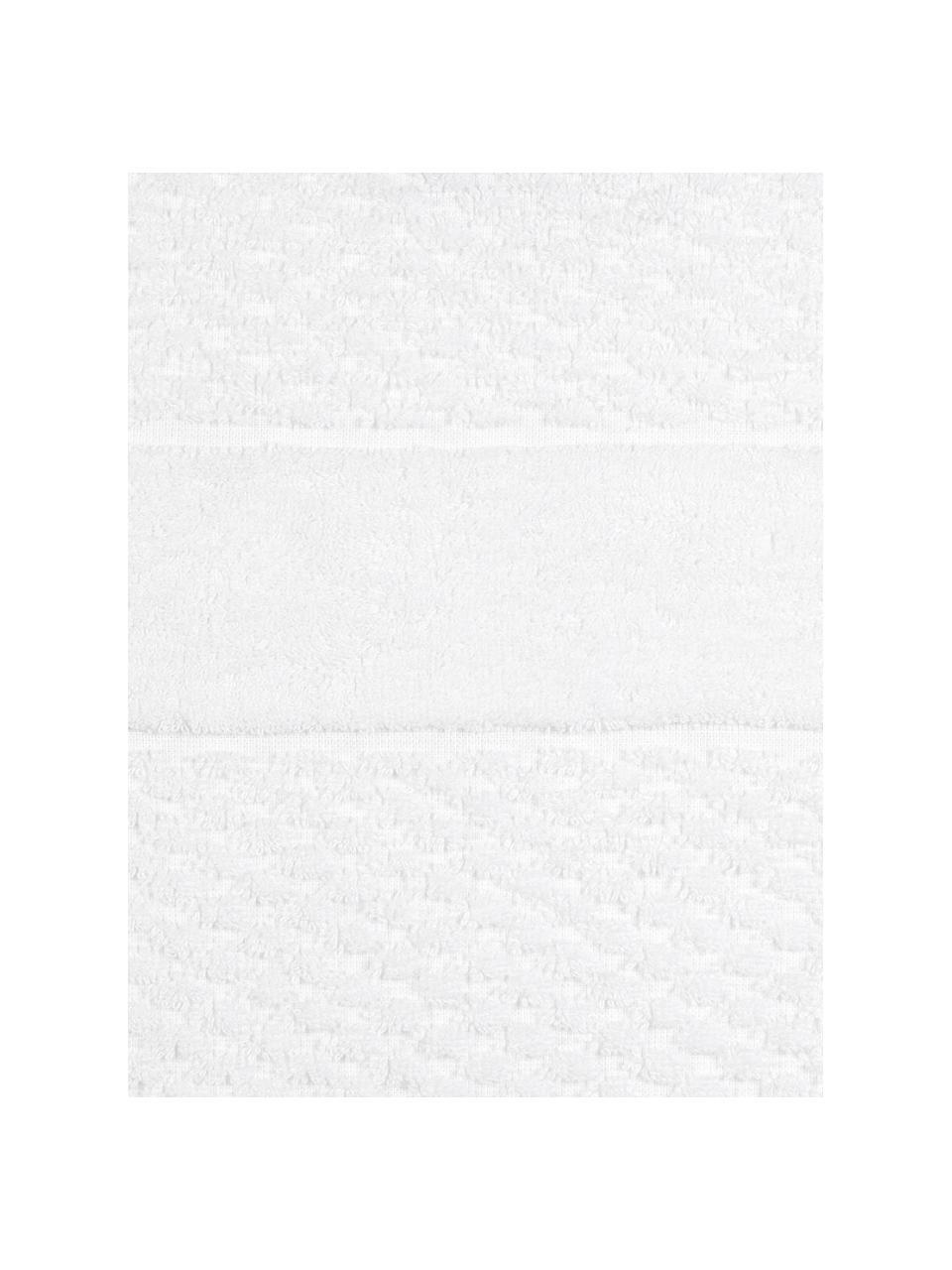 Komplet ręczników Katharina, 3 elem., Biały, Komplet z różnymi rozmiarami