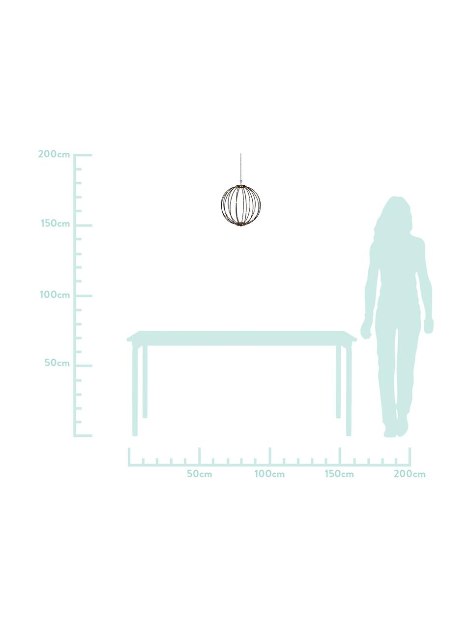 Outdoor Hängelampe Mounty mit Stecker, Lampenschirm: Kunststoff, Schwarz, Ø 30 cm