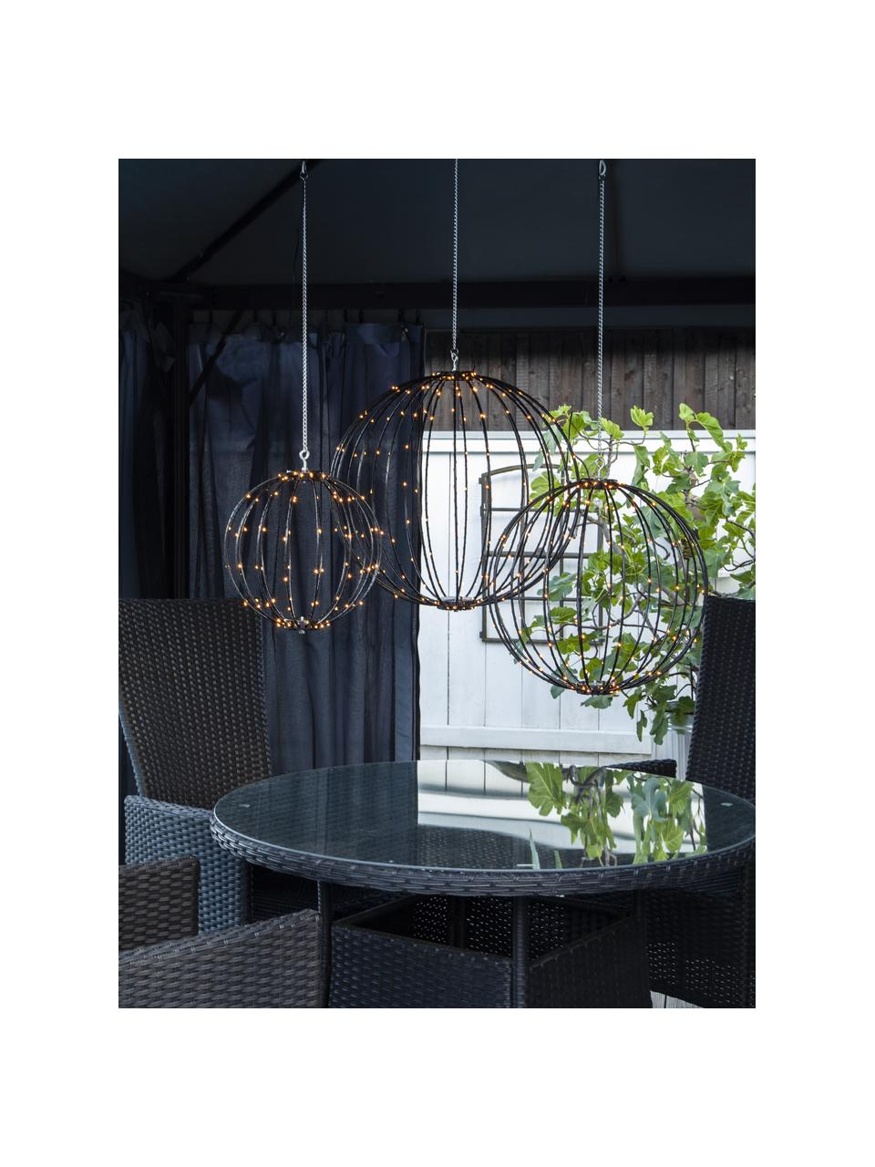 Outdoor hanglamp Mounty met stekker, Lampenkap: kunststof, Zwart, Ø 30 cm