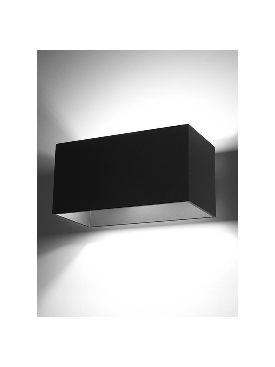 Wandleuchte Geo Maxi, Lampenschirm: Aluminium, Schwarz, 20 x 10 cm