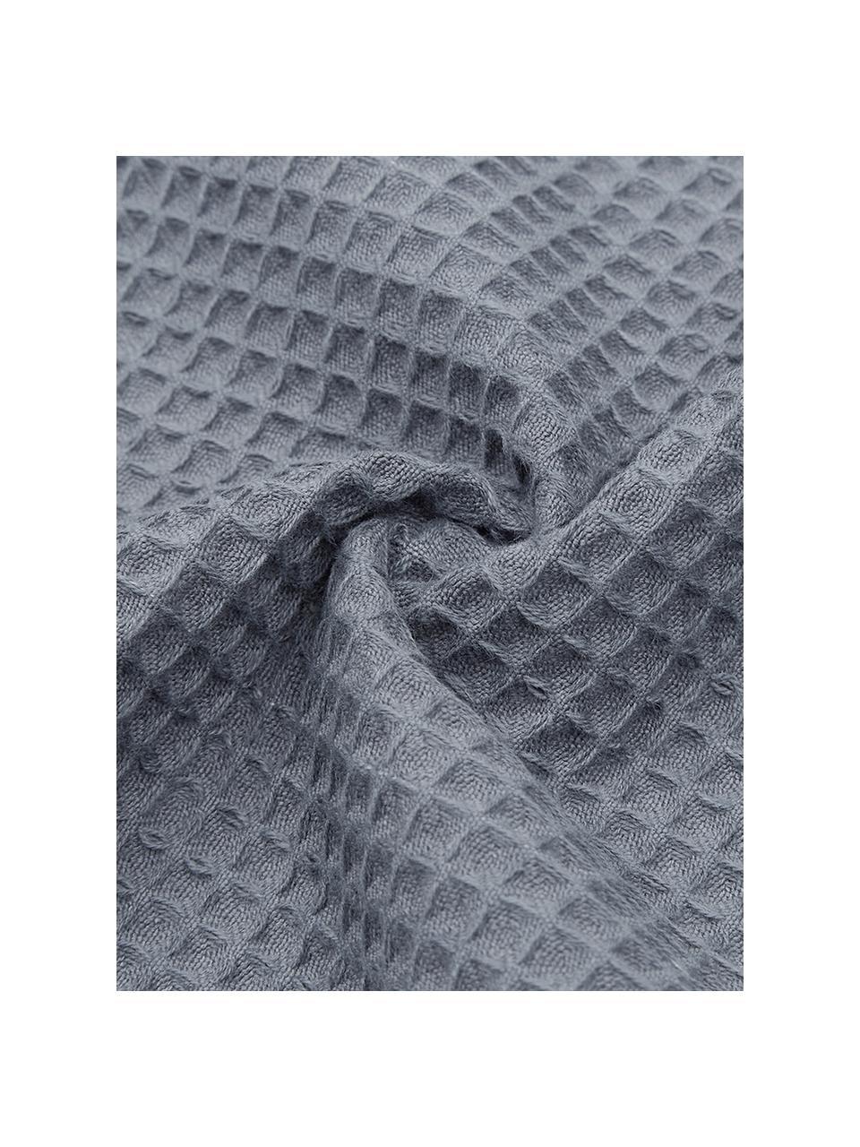 Leichtes Waffelpiqué-Handtuch Karima, verschiedene Größen, Dunkelgrau, Gästehandtuch