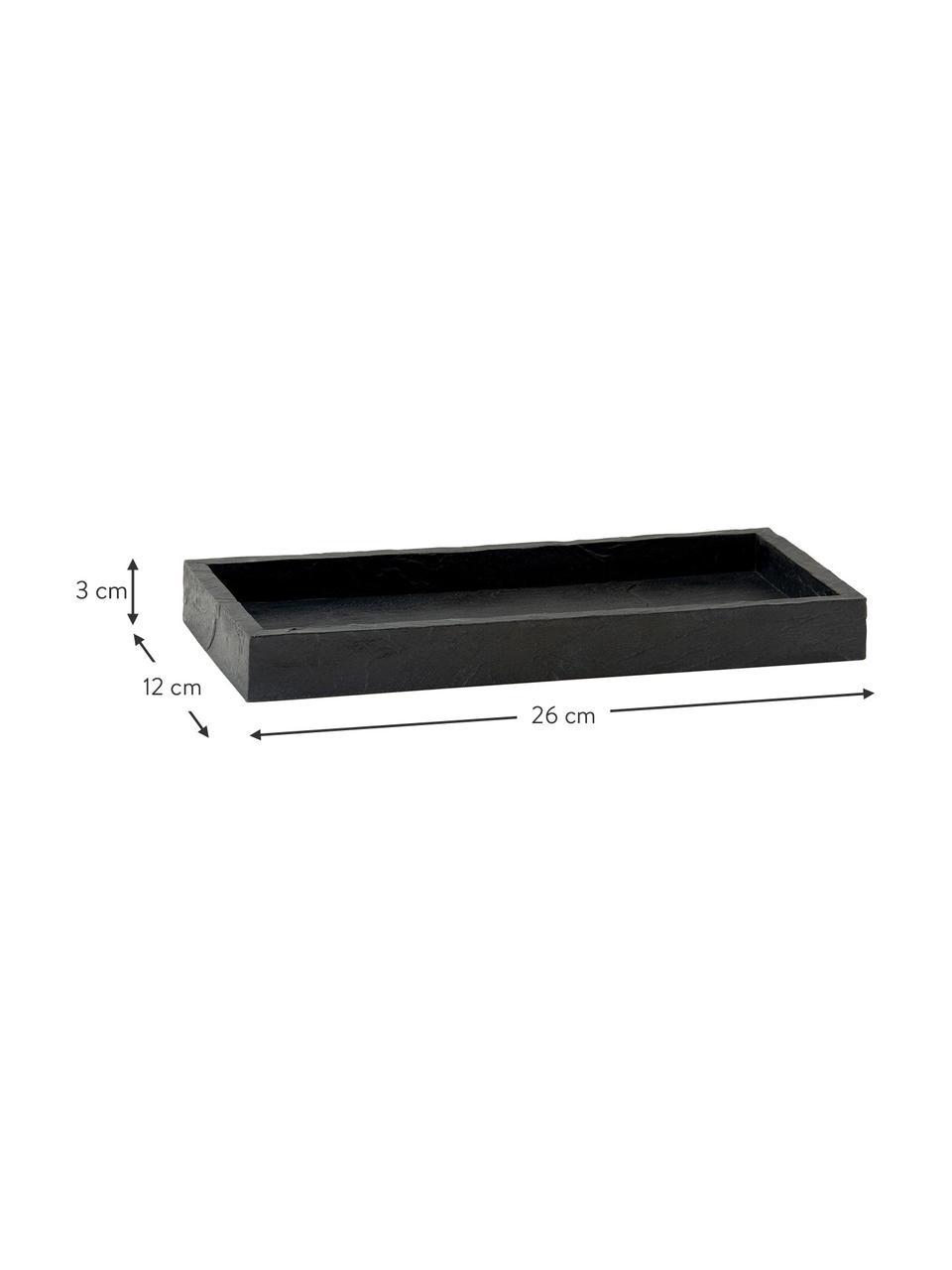 Taca Slate, Poliresing, Czarny, S 26 x W 3 cm
