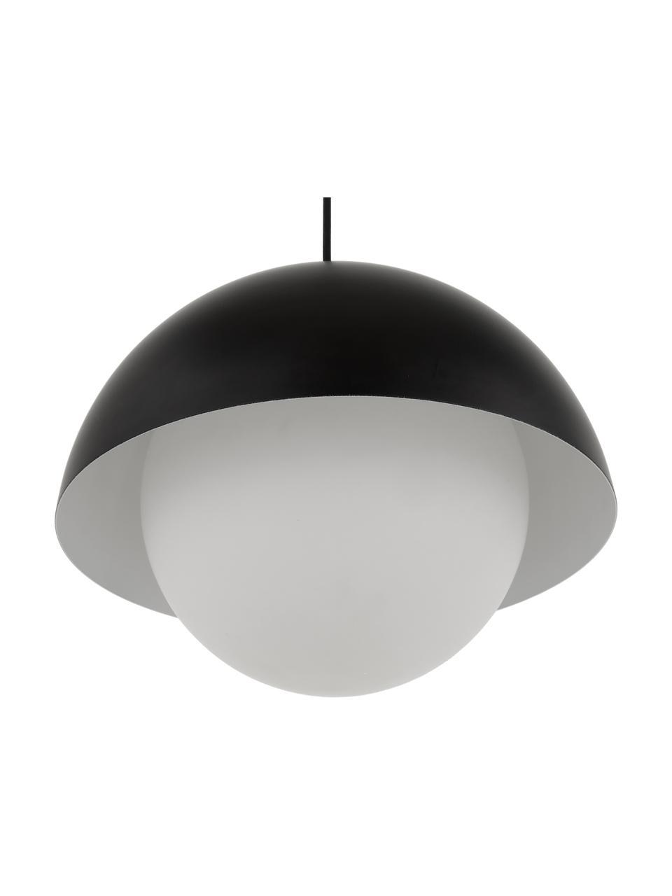 Lampa wisząca Lucille, Czarny, biały, Ø 35 x W 30 cm