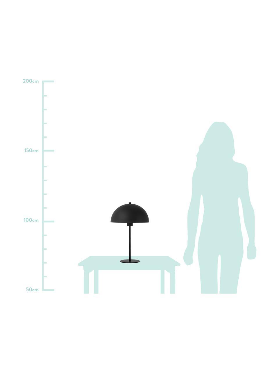 Tafellamp Matilda van metaal, Lampenkap: gepoedercoat metaal, Lampvoet: gepoedercoat metaal, Zwart, Ø 29 x H 45 cm