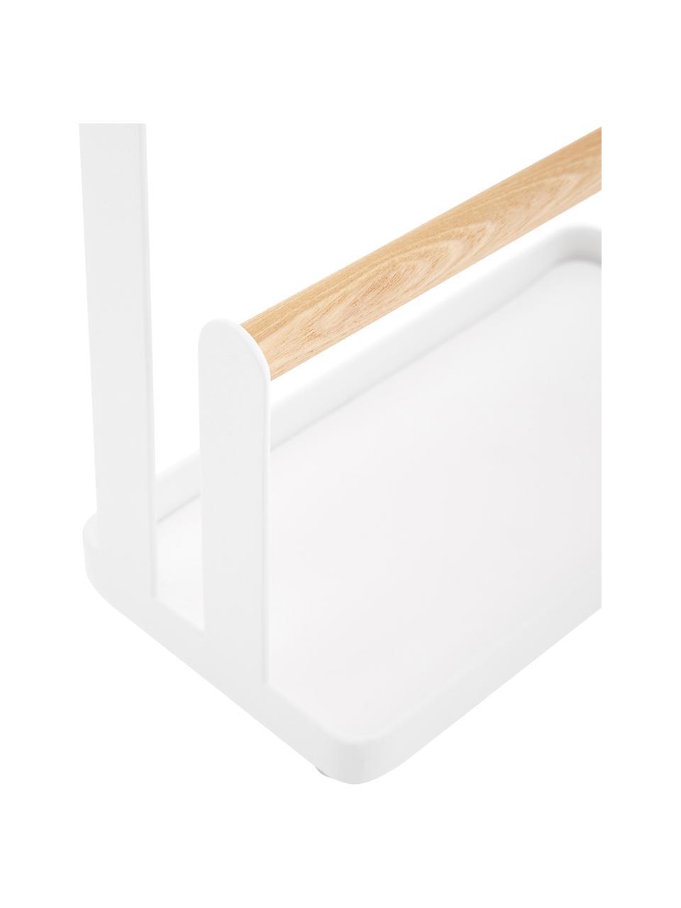 Schmuckhalter Tosca, Stange: Holz, Weiß, Braun, 20 x 29 cm