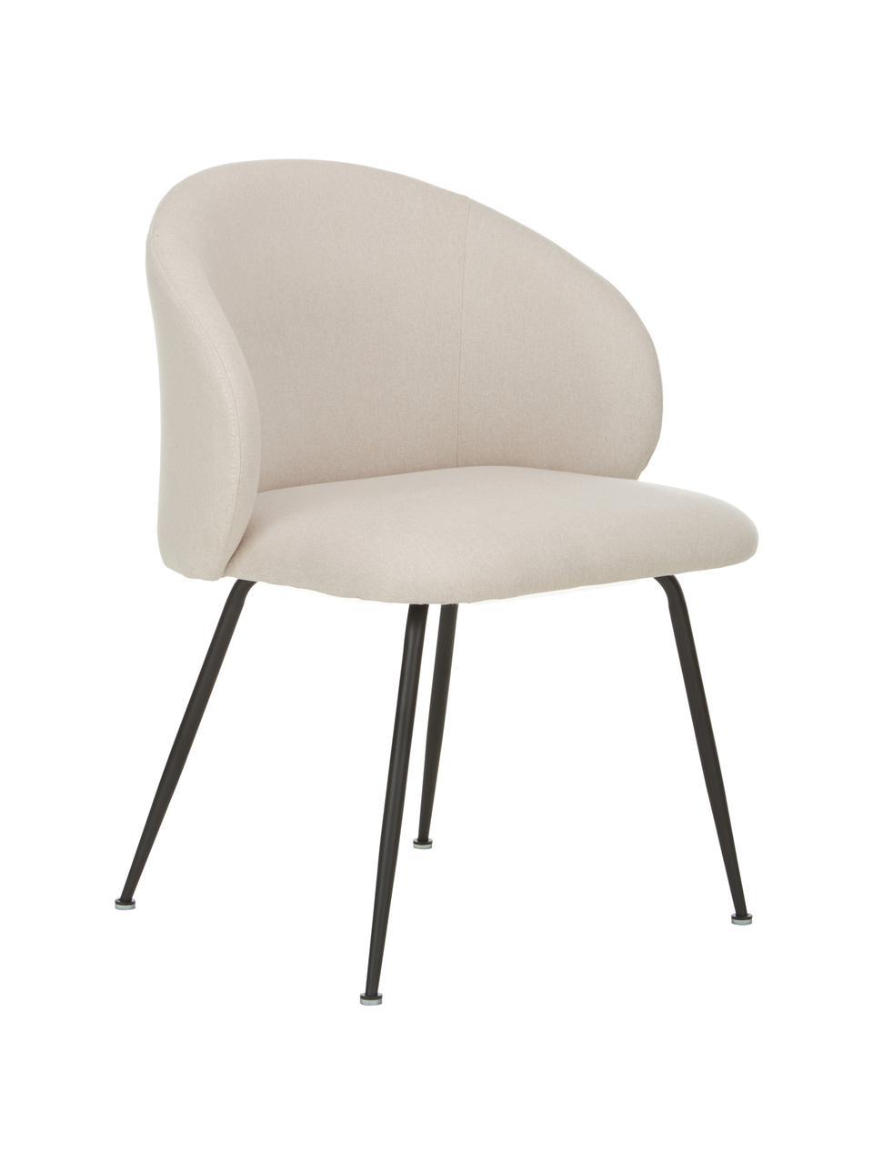 Čalúnená stolička Luisa, 2 ks, Béžová, čierna