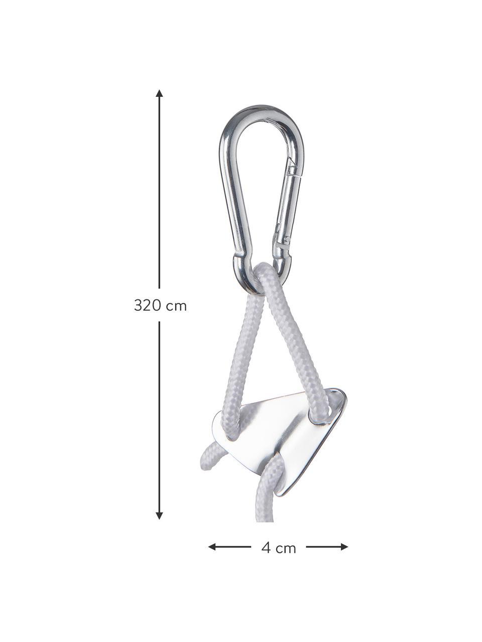 Karabiner-Aufhängesystem Baboon, Weiß, L 320 cm