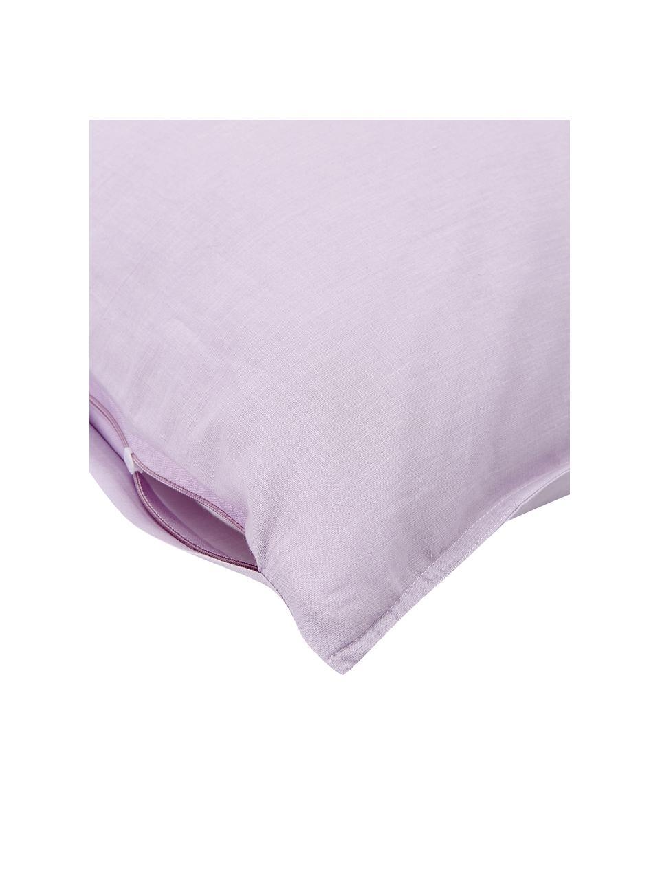 Pościel z bawełny Arlene, Lila, 240 x 220 cm + 2 poduszki 80 x 80 cm